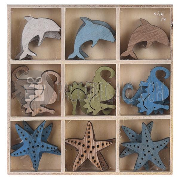 Decorazioni stelle cavallucci delfini in legno con for Decorazioni autoadesive