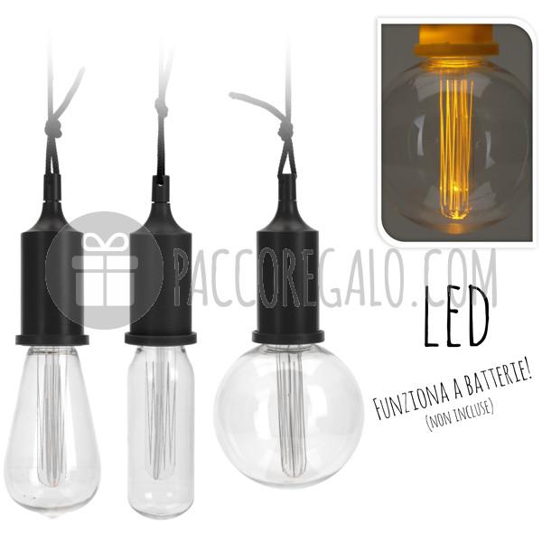 Lampadine edison a led funzionanti a batteria 3 modelli for Lampadine a filamento led