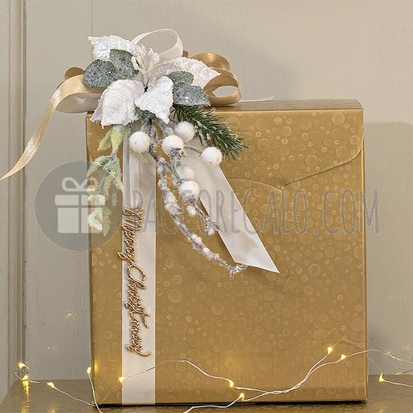 Stella Di Natale Con Bottiglie Di Plastica.Maxi Pick Ghiacciato Stella Di Natale Bianca Con Bacche Bianche E Agrifoglio