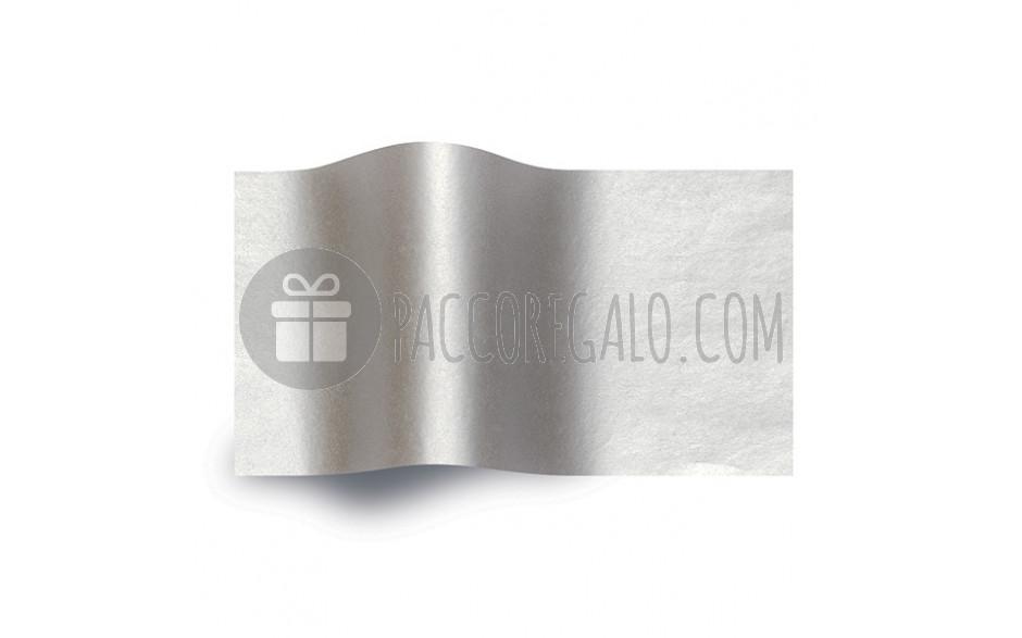 Carta velina colorata ARGENTO cm 50x70 (25 fogli)