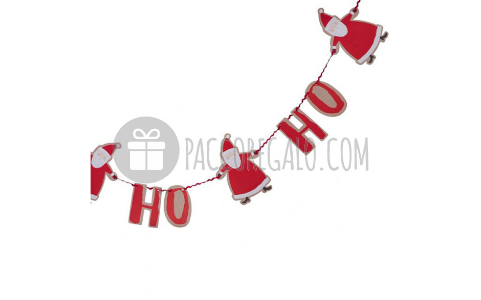 Babbo Natale Ho Ho Ho.Ghirlanda Ho Ho Ho Con Babbo Natale Mt 2