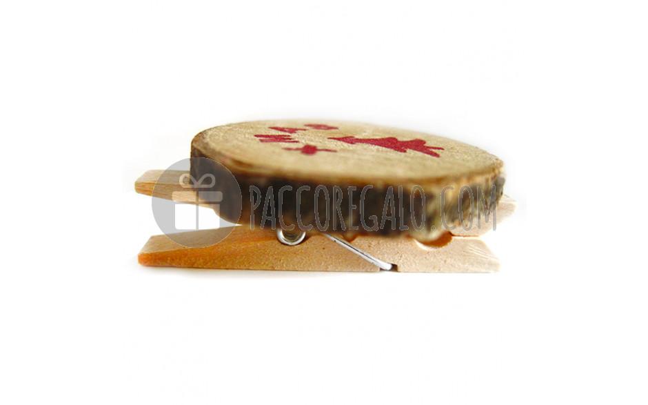 Mollette in legno ceppo con scritta xmas e stella 4pz for Scritta home in legno
