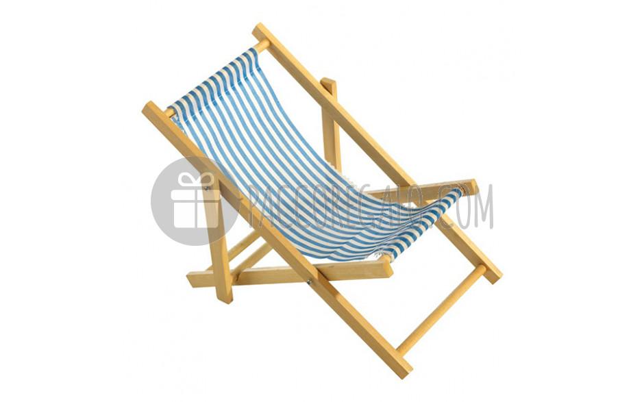 Sedia A Sdraio Tessuto : Modellino sedia sdraio in legno e tessuto a righe