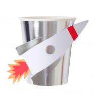 "Bicchieri di carta RAZZO ""SPACE EXPLORER"" (8 pezzi)"