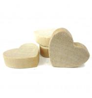 Cuoricini in legno alto spessore (36pz)