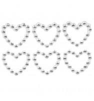 Strass adesivi a forma di cuore  (diam 25 mm) _ 24 pz