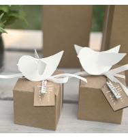 Decorazione Uccellino in cartoncino bianco (14pz)