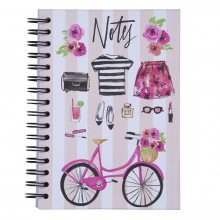 "Notebook con spirale ""BELLEZZA IN BICICLETTA""-29"