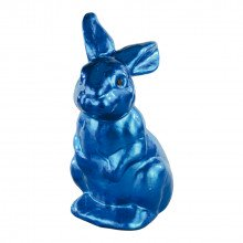 Decorazione Coniglio Blu in plastica (cm 27)