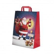 "Shoppers in carta Natale ""Babbo Natale"""