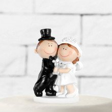 "Cake topper ""Sposi Cartoon con Calici"""