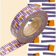 Nastro adesivo decorativo Masking Tape: Carote viola arancio