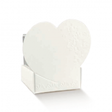 Scatolina CESTELLO con Cuore in cartoncino bianco e acetato (10pz)