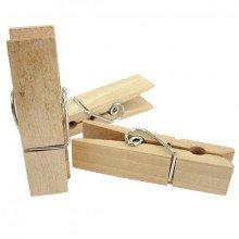 Mollette BIG in legno grezzo (6pz)