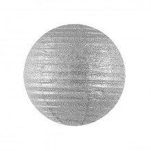 Lanterna decorativa in carta glitterata (cm 25) - Colore Argento
