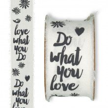"""Nastro """"Love what you do"""" (mm 30 x 3 mt)-21"""