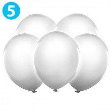 Palloncini decorativi bianchi con LUCE LED - cm 30