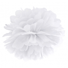 Tissue Pom Pom in carta velina - BIANCO (cm 35)
