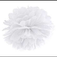 Tissue Pom Pom in carta velina - BIANCO (cm 25)