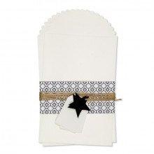Kit buste regalo in carta con decorazioni, cordino e tag (2 buste)-21