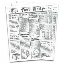 """Tovaglietta in carta ALIMENTARE """"Giornale: The Food Daily"""" (500pz)"""