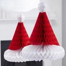 """Set Honeycomb """"Cappello di Babbo Natale"""" (2 pz)"""