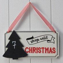Cartello Conta giorni a Natale