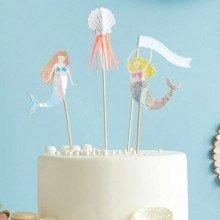 "Cake topper ""SIRENE"" (4 pezzi)-28"
