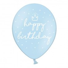 "Palloncini decorativi ""Happy Birthday"" AZZURRO cm 30 (6 pz)-22"