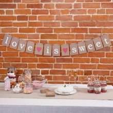 "Ghirlanda in cartoncino ""LOVE IS SWEET"" (mt 1,50)-23"