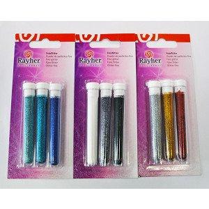 Set 3 colori: Glitter in polvere fine (gr.3)