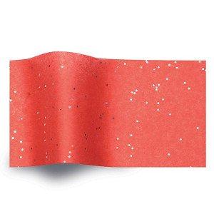 Carta velina Rossa glitter cm 50x76 (24 fogli)