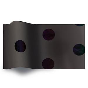 Carta velina Bolloni NERI su Nero cm 50x76 (25 fogli)