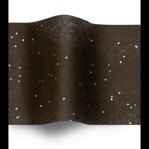 Carta velina Nero e glitter cm 50x76 (24 fogli)