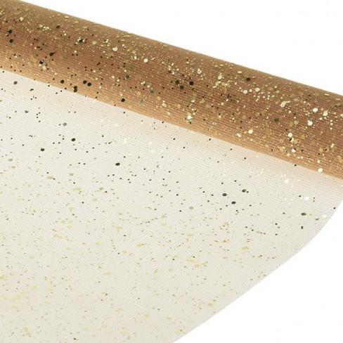 "Runner in organza glitterata ""Polvere di stelle"" (cm 38 x 2 mt)-31"