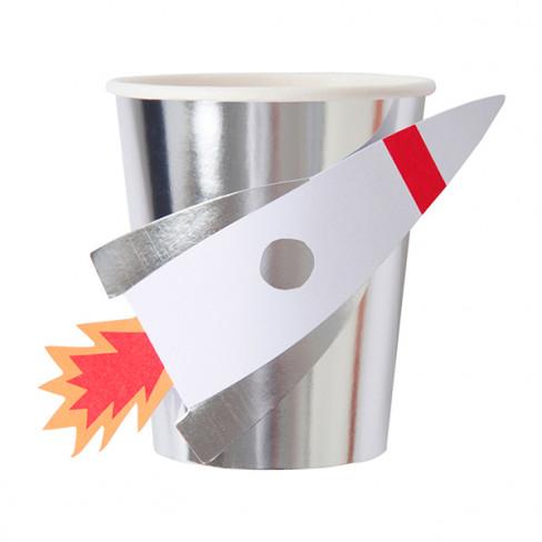 "Bicchieri di carta RAZZO ""SPACE EXPLORER"" (8 pezzi)-31"