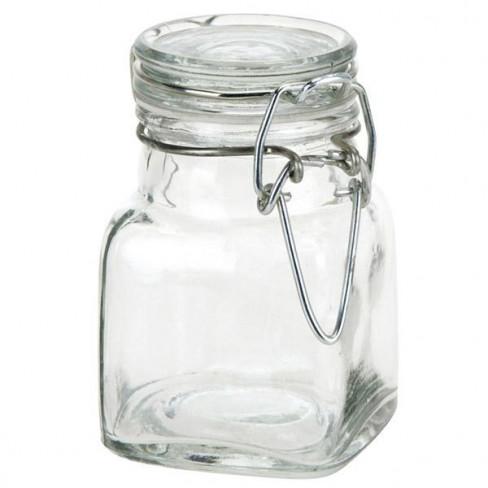 """Vasetto """"CUBO"""" in vetro con tappo ermetico"""