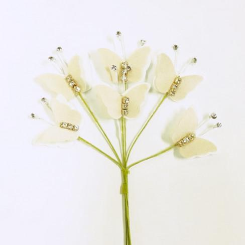 Pick farfalline bicolore con strass