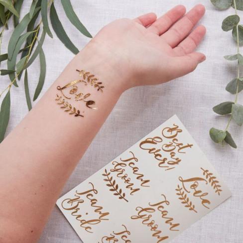 "Tatuaggi Temporanei ""Wedding"" (12pz)"