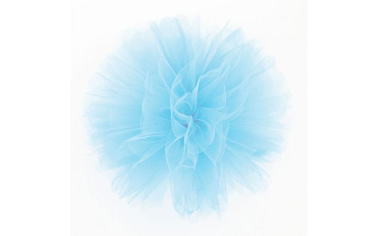 Pom Pom Di Tulle.Fluffy Pom Pom In Tulle Azzurro Cm25