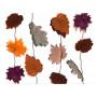 Ghirlanda autunnale di foglie leggere in carta (mt 4)
